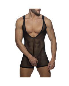 Addicted Mesh Wrestling Suit - Zwart