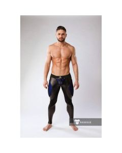 Maskulo Armored Color-Under Fetish Leggings - Blue voorkant