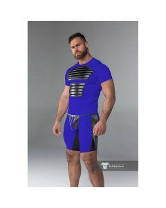 Maskulo Armored Men's Fetish Shorts - Royal Blue