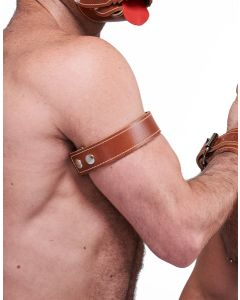 Mister B Leather Biceps Band Stitched - Brown*