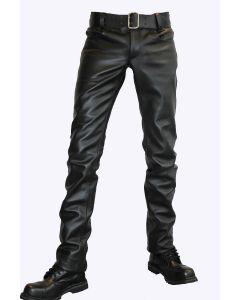 Mister Mitch Leather Jeans - Zwart