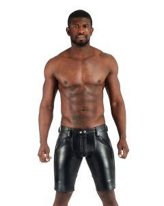 Mister B Leather FXXXer Shorts - Black