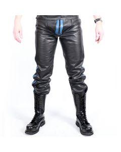MisterMitch Leren Jeans met Rits - Blauw