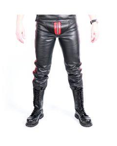 MisterMitch Leren Jeans met Rits - Rood