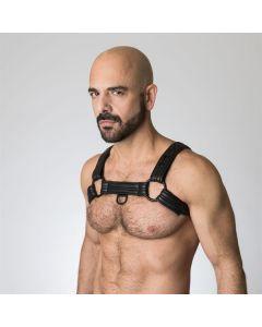 Neoprene Bulldog Harness - Black