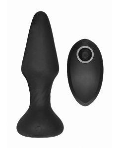 No.81 Oplaadbare Buttplug met Afstandsbediening - Zwart*