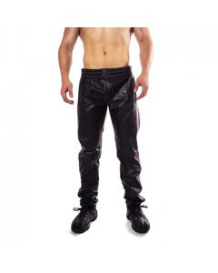 Prowler RED Leather Joggers Black/Red voor
