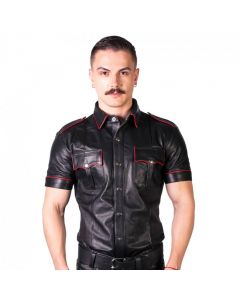 Prowler RED Slim Fit Police Shirt Black/Red