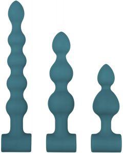 Vibrerende Anal Beads Set - Groen
