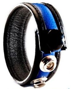 Cockring Leather Blue