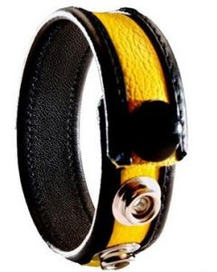 Cockring Leather Yellow
