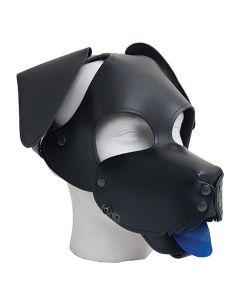 Leren Floppy Dog Masker Mister B - Zwart & Bruin