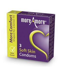 Condooms Soft Skin More Amore - 3 Stuks