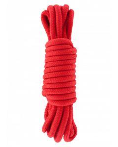 Bondage Touw 5 meter - Rood Katoen
