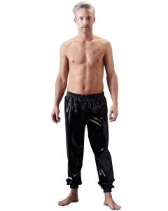 Latex Zwarte Joggingbroek